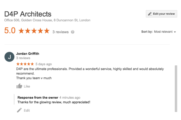 Architects Google Reviews